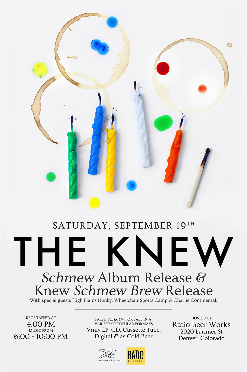 THE KNEW, Album release poster - Todd Roeth
