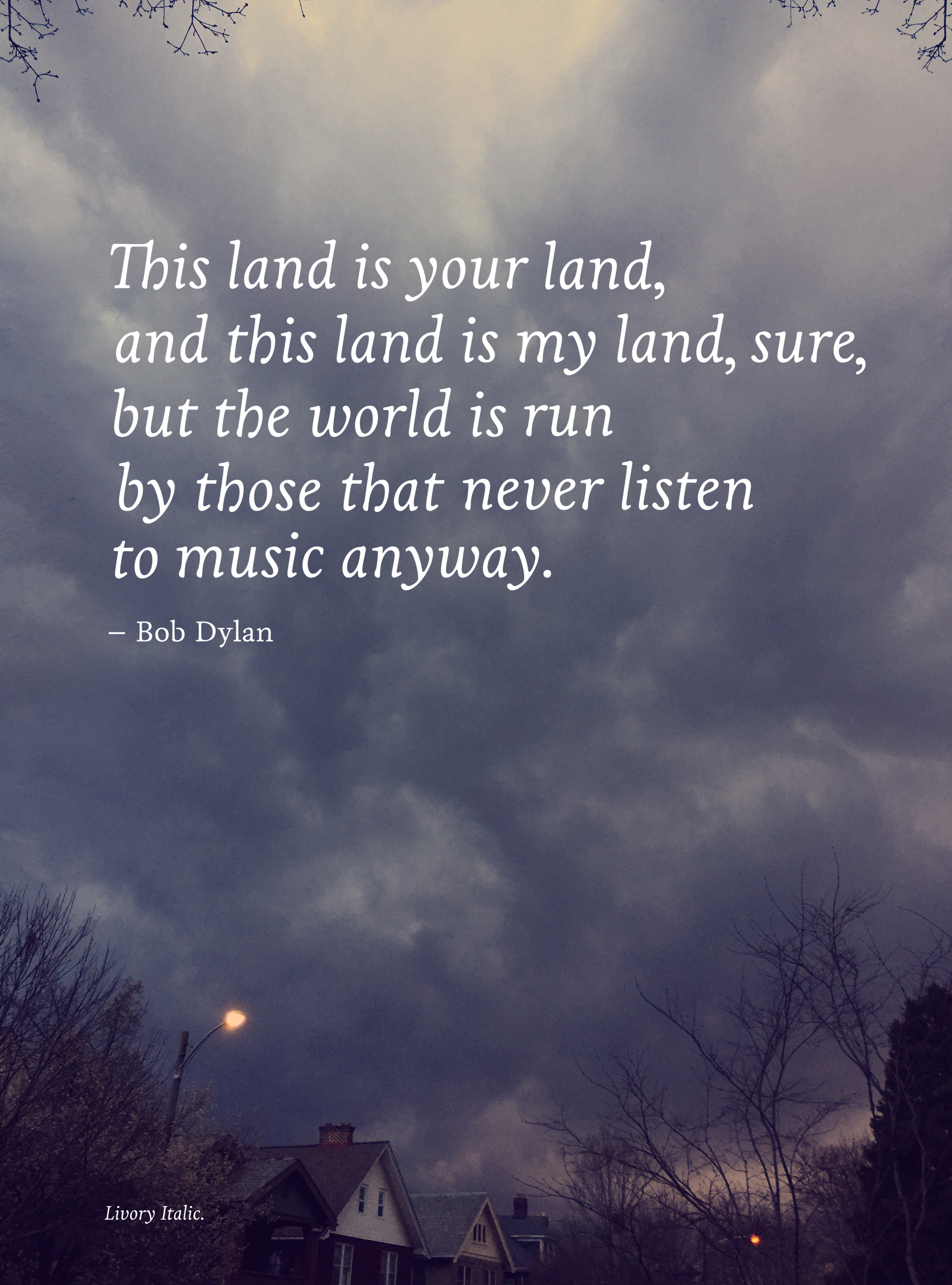 Our Land - Todd Roeth